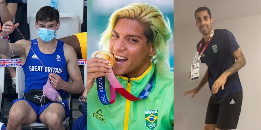 Tom Daley tricotando, a medalha de Ana Marcela Cunha e os stories de Douglas Souza foram destaques nas Olimpíadas 2020